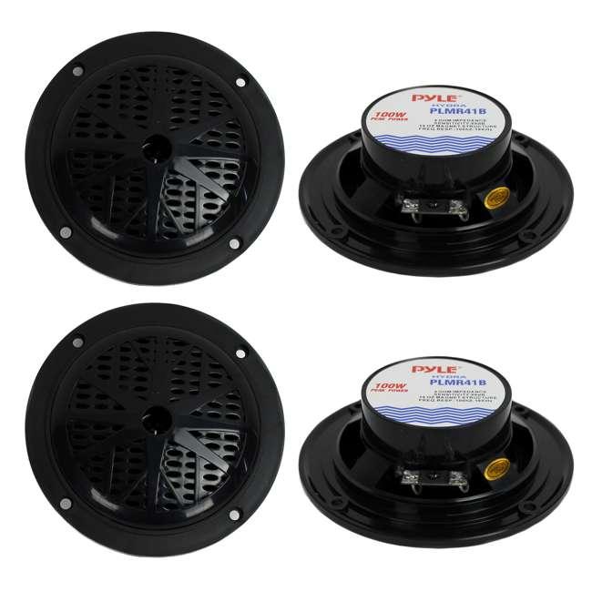 PLMR41B Pyle PLMR41B 4-Inch 200W Dual Cone Waterproof Marine Speakers (2 Pairs)