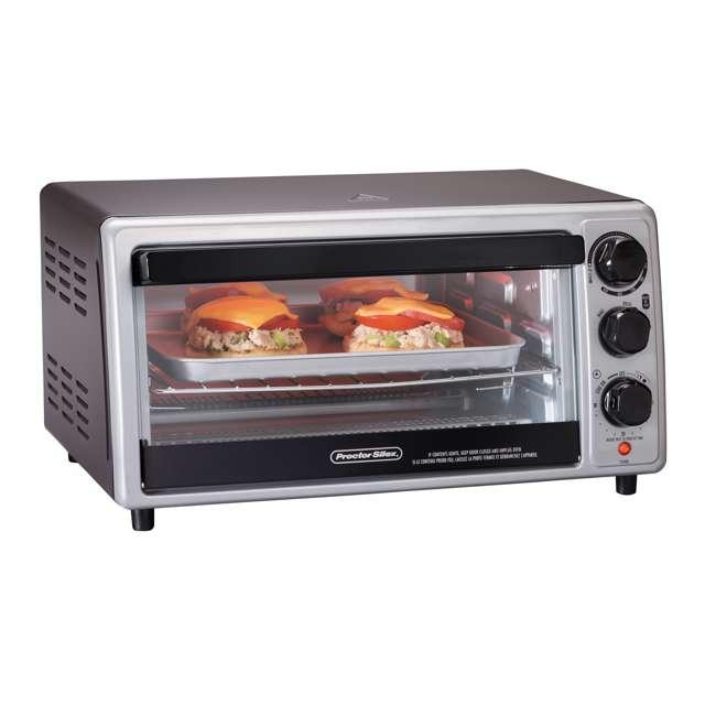 31124 Hamilton Beach Proctor Silex 6 Slice Capacity Countertop Toaster Oven, Silver 3