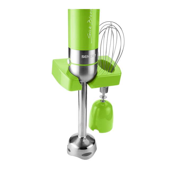 SHB4362GR-NAA1 Sencor Stick Hand Immersion Blender Set with Beaker, Chopper, & Whisk, Green 2
