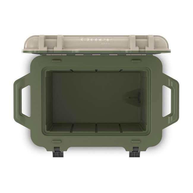 77-54463 Otterbox Venture Heavy Duty Outdoor Camping Fishing Cooler 45-Quarts, Tan/Green 7