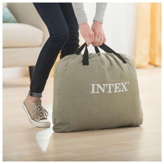 64145EP-U-A Intex Dura Beam Pillow Rest Fiber Tech w/ Built In Pump, Twin (Open Box)(2 Pack) 3