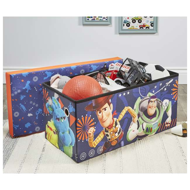 520021-002 Fresh Home Elements 30-Inch Licensed Folding Super Toy Chest & Bench, Toy Story 5