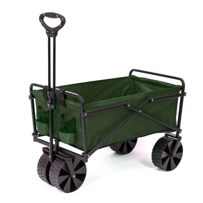 SUW-408-GREEN-U-A Seina Collapsible Utility Beach Wagon and Cart, Green (Open Box) (2 Pack)