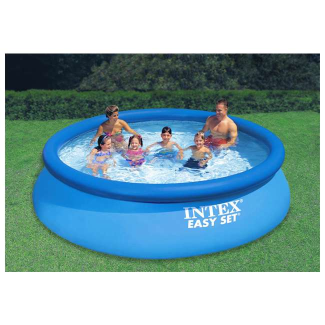 intex 12 39 x 30 easy set inflatable swimming pool filter. Black Bedroom Furniture Sets. Home Design Ideas