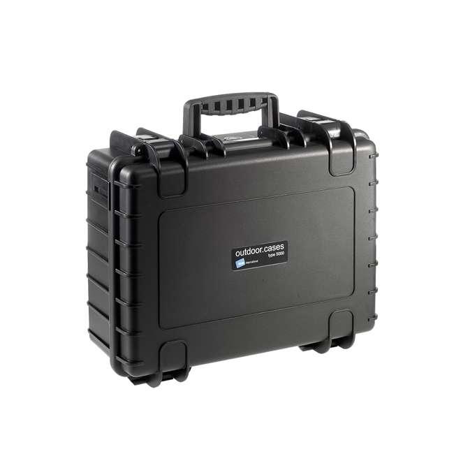 5500/B/SI B&W International 5500/B/SI Hard Plastic Outdoor Case w Removable SI Foam Insert