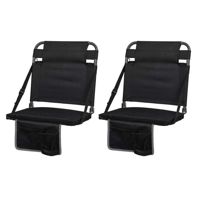1-1-58810-DS Eastpoint Sports Adjustable Backrest Seat, Black (2 Pack)