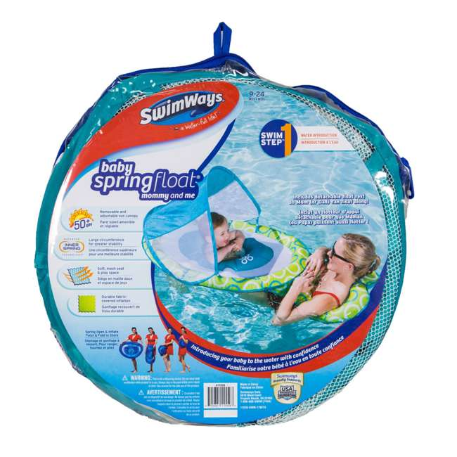 6038673-SW Swimways Mommy and Me Spring Float with Canopy 3