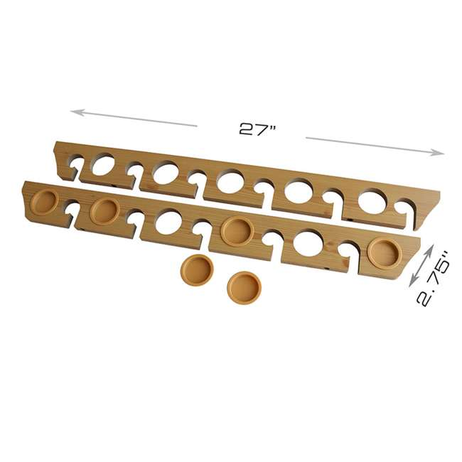 38-3017 Rush Creek Creations 38-3017 2 Piece 11 Pole 3 in 1 Wall and Ceiling Rod Rack 3