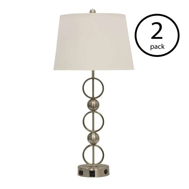 SC-L37591 Abode 84 Metal Table Lamp with Outlet & USB Port (2 Pack)