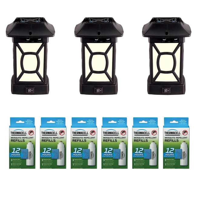 MR9W Thermacell MR9W Insect Repeller Lantern (3 Pack) & Repellent Refill (6 Pack)