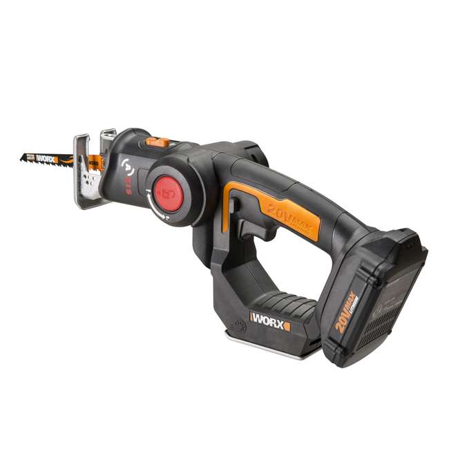 WX550L Worx 20V Axis MaxLithium Battery 2-In-1 Cordless Reciprocating and Jig Saw Tool 3