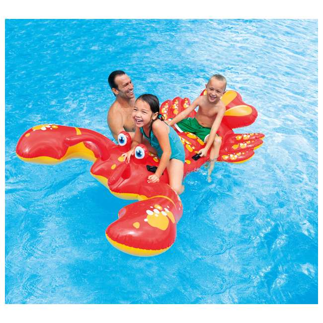 57528EP Intex Giant Lobster Ride-On Pool Raft 2