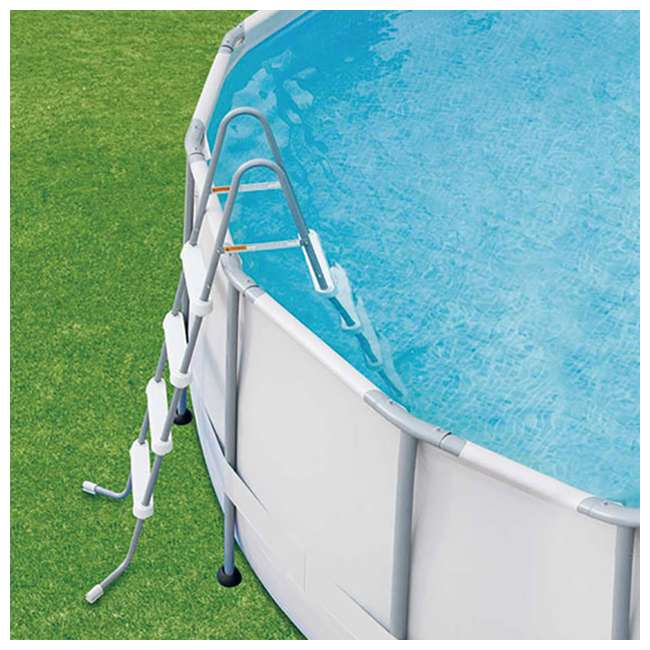 P40016481167 + QLC-42003 Summer Waves Elite 16 Ft Metal Frame Above Ground Pool w/ Pump & Cleaning Kit 4