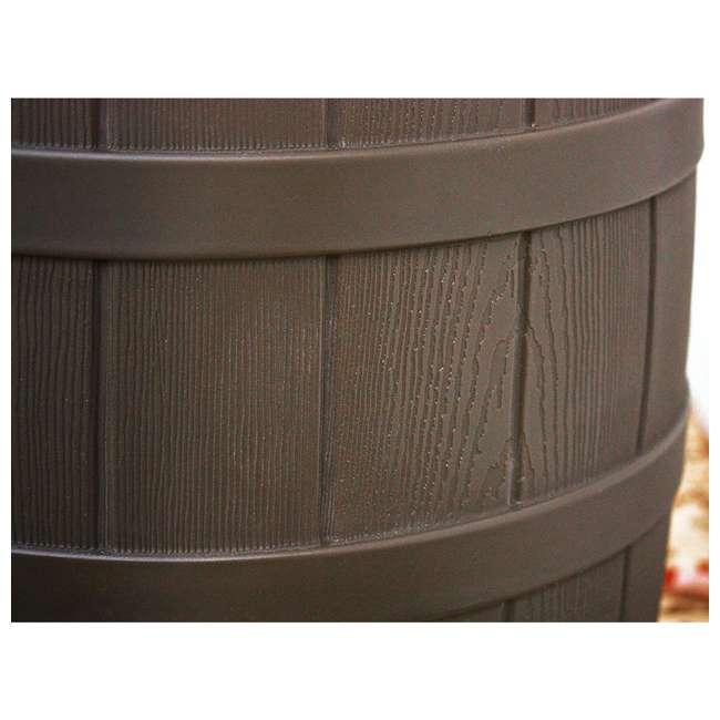 RW50-DIV-OAK Good Ideas Rain Wizard Rain Collection Barrel 50-Gallon w/ Diverter Kit, Oak 4