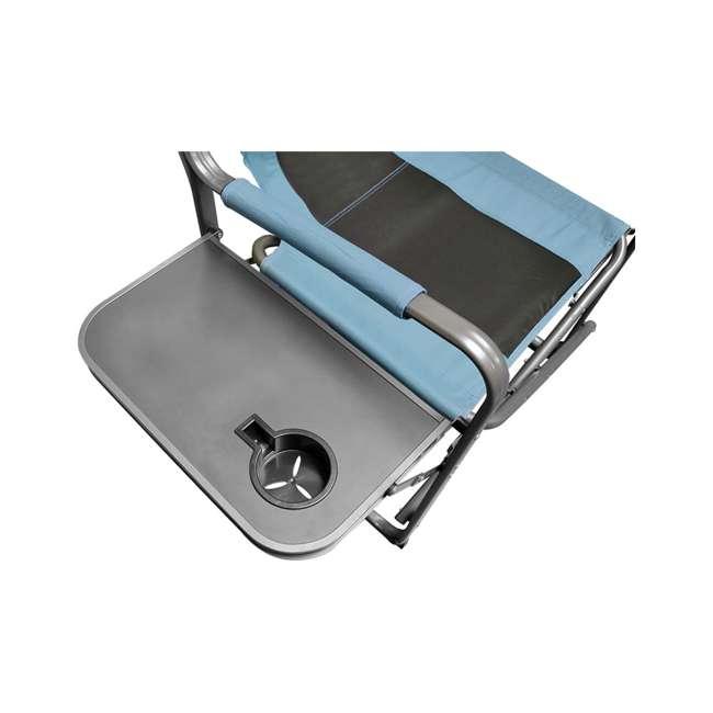CVANDFC01022-2PK-U-B Caravan Canopy Elite Portable Director's Folding Chair, Blue/Grey (2 Pack)(Used) 3