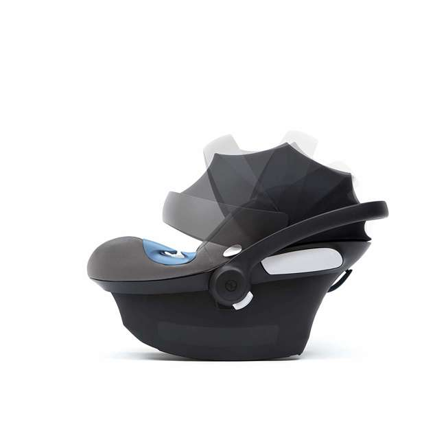 518002097 Cybex Aton M Portable Newborn Infant Baby Car Seat & SafeLock Base, Pepper Black 3