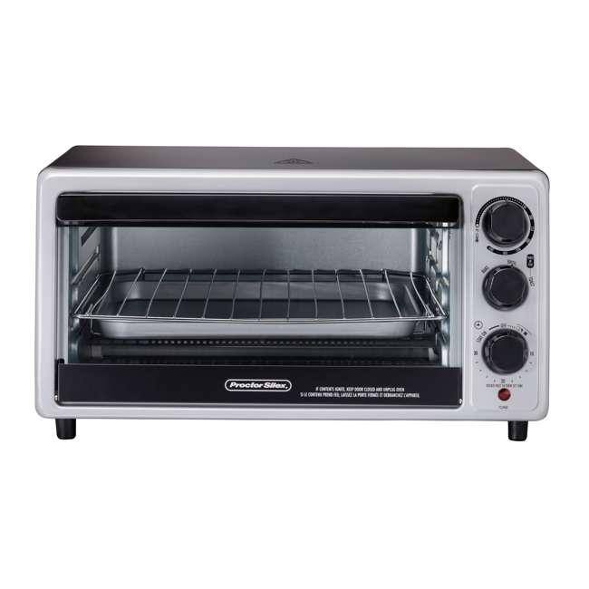 31124 Hamilton Beach Proctor Silex 6 Slice Capacity Countertop Toaster Oven, Silver