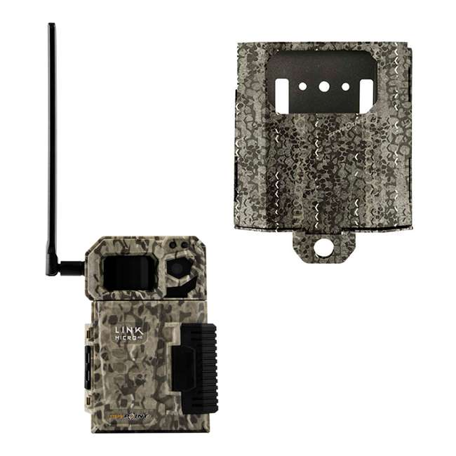 MICROUS + Box SPYPOINT LINK MICRO Nationwide Cellular Hunting Trail Game Camera & Security Box