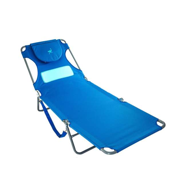 4 x LCL-1006B Ostrich Comfort Lounger Face Down Sunbathing Chaise Lounge Beach Chair (4 Pack) 1