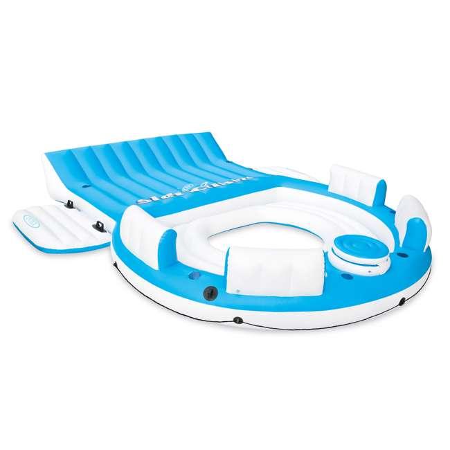 56299EP + 58293EP Intex Inflatable Island Pool Lake Raft Lounger w/ Oasis Island Floating Lounge 1