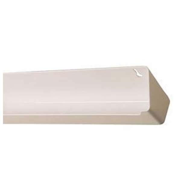 LD-6591-30-11-1 Rev A Shelf Lazy Daisy 30 Inch Polymer Sink Front Tip Out Tray and Hinges, White