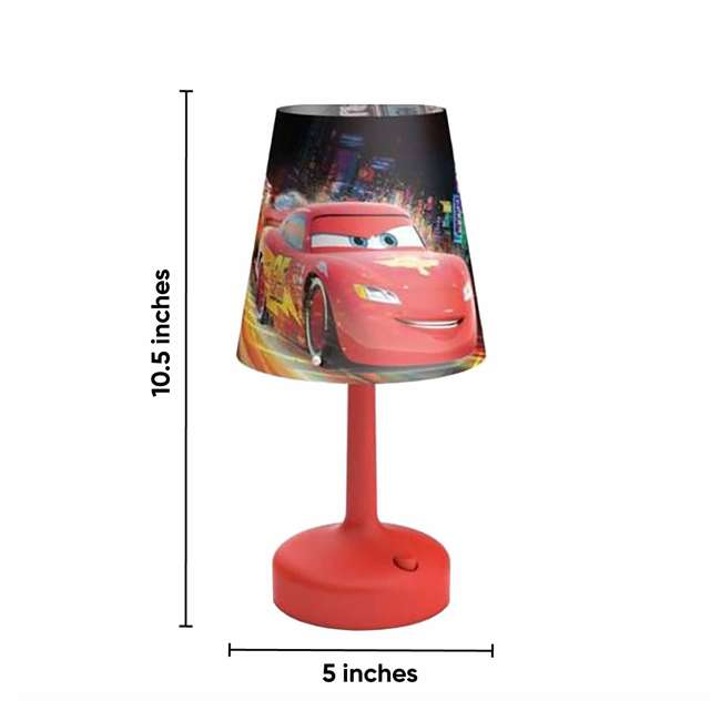 4 x PLC-7179632U0 Philips Disney Cars Kids Table Lamp with Shade (4 Pack) 5
