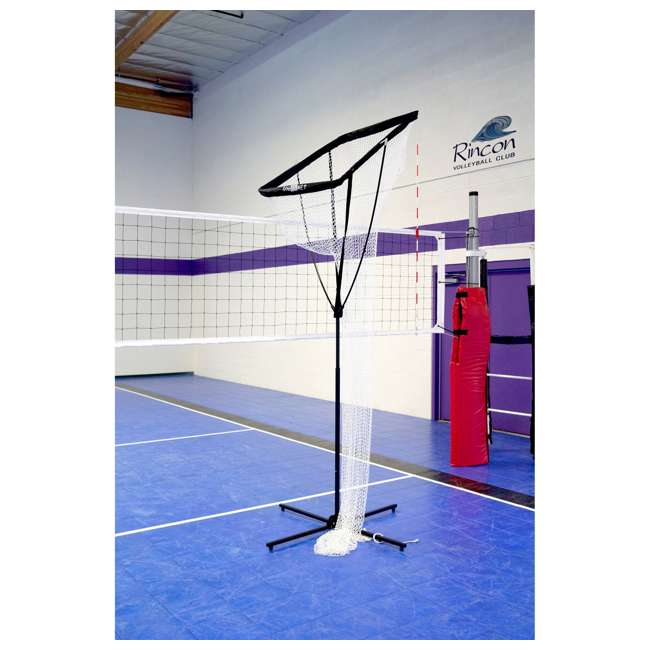 Bow-VB Setting Net + 5W PRIME Portable Volleyball Training Setting Net w/ NFHS Volleyball 2