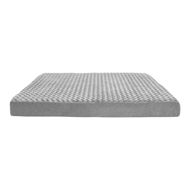 32635087 Furhaven 32635087 Jumbo Plus Ultra Plush Top Deluxe Mattress Pet Dog Bed, Gray