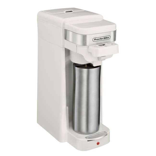 49978 Proctor Silex Single-Serve Compact Coffee Maker, White 2