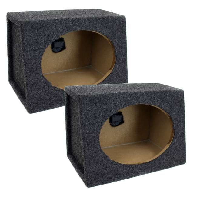 TW6X9 Q-Power 6 x 9 Car Audio Speaker Box Enclosures, 2 Speakers