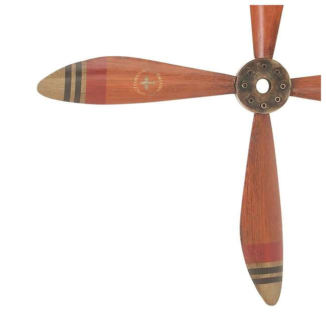 UE-93230 Deco 79 Wall Hanging Decor 34-Inch Metal Airplane Propeller 4