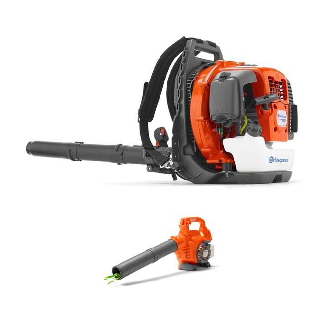 HV-BL-967144301 + HV-TOY-589746401 Husqvarna 2-Cycle 232 MPH Commercial Gas Leaf Blower + Kids Toy Leaf Blower