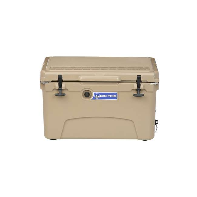 BFDB45-SD Big Frig Denali 45 Quart Insulated Cooler with Cutting Board and Basket, Sand 1