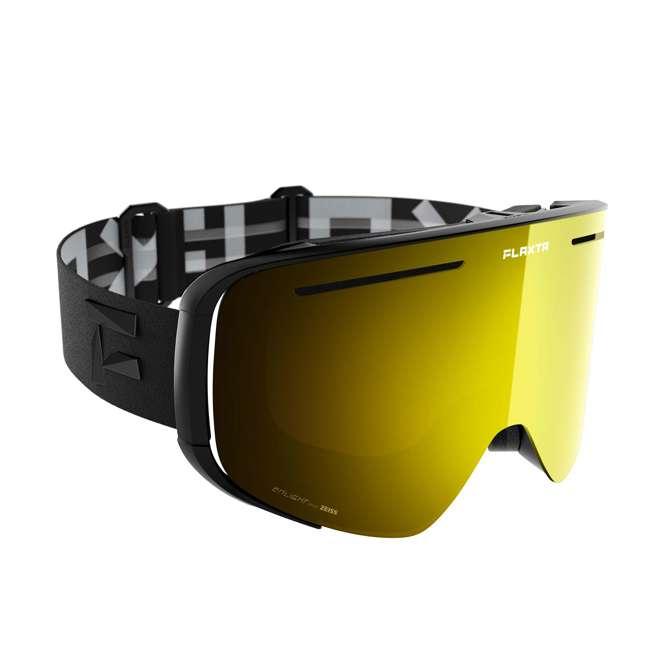 FX801101010ONE Flaxta FX801101010ONE Plenty Ski & Snowboard Goggles Black w/ Gold Mirror Lenses