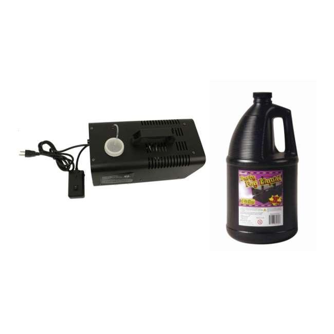 61066 + 61070 Halloween 400 W Haze Fog Machine & Remote with Juice Fluid