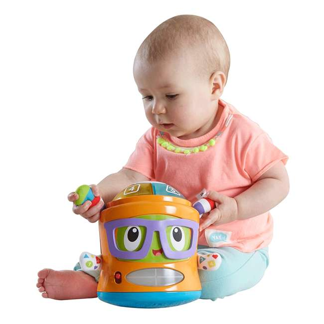 DYM08 Fisher Price DYM08 Franky Beats Bat & Boogie Baby Learning Activity Play Toy 2