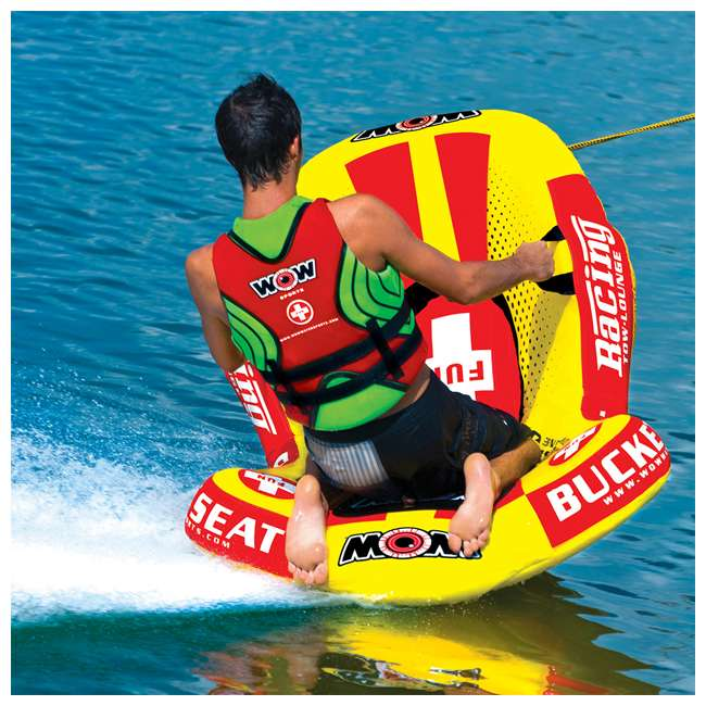 14-1090 WOW Watersports 14-1090 Bucket Seat Single Person Towable Tube with Handles 4