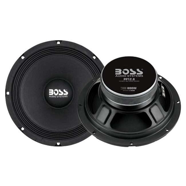 PP128 Boss PP12.8 12-Inch 1600W Mid Bass Speakers (Pair)