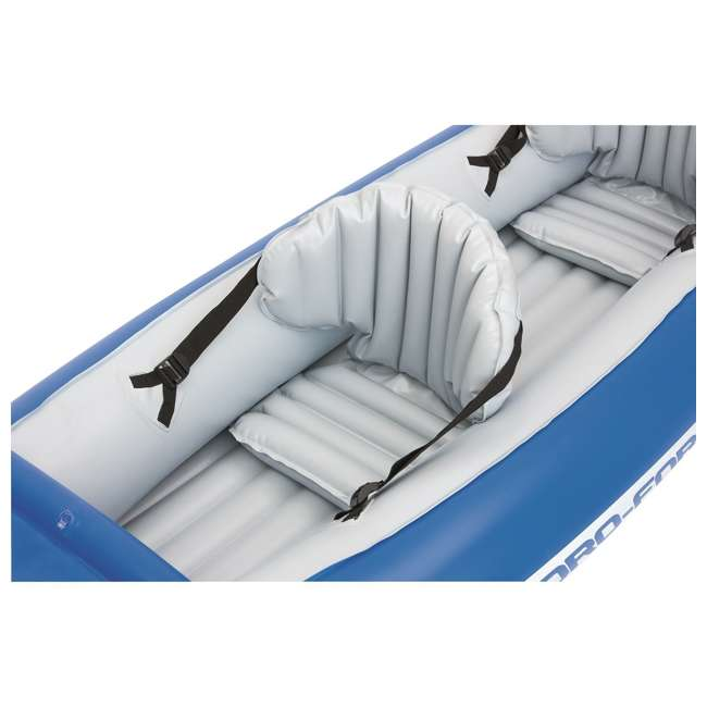 "65077E-BW-U-A Bestway 126 x 35"" Lite-Rapid X2 Inflatable Kayak w/ Oars (Open Box) (2 Pack) 2"