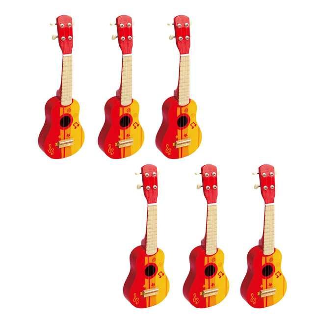 Hape 4 String Wooden Ukulele Toy 6 Pack