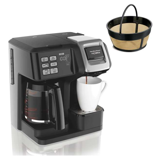 49976 + 80675R Hamilton FlexBrew Programmable Coffee Maker & Permanent Coffee Filter