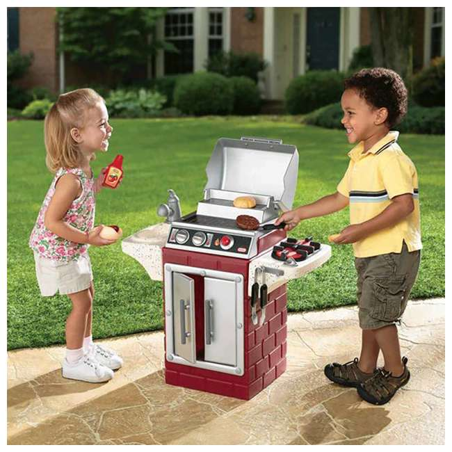 624483X1 Little Tikes Backyard Barbecue Get Out 'N' Grill Set 4
