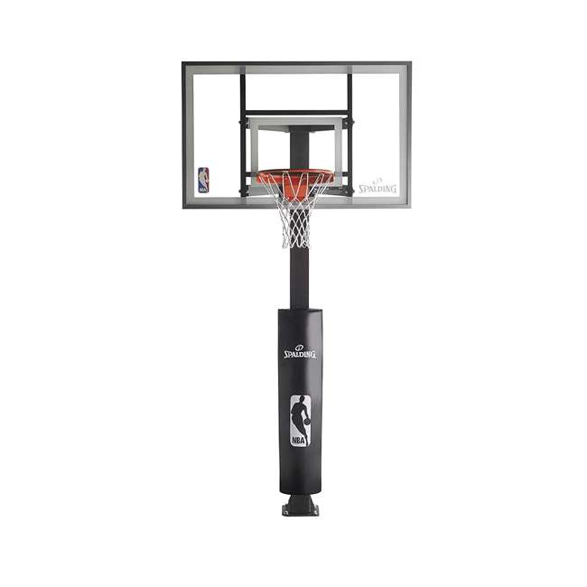 "88830G Spalding 60"" Glass 888 Series In-Ground Backyard Basketball Hoop"