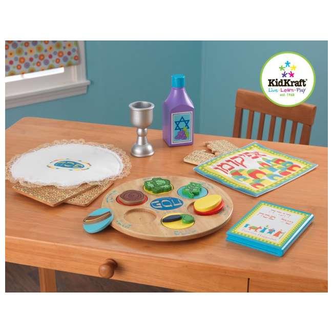 62901 KidKraft 62901 Passover Play Set Seder for Kids Includes Plate, Goblet, & Matzah 1