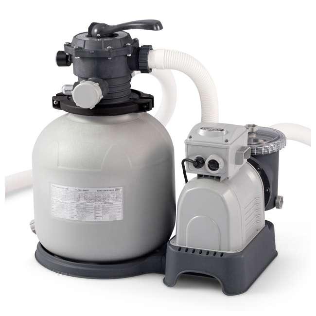 28651EG Intex Krystal Clear 3,000 GPH Above Ground Pool Sand Filter Pump