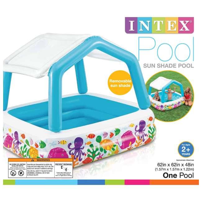 "57444EP + 57470EP Intex 8' x 6.25' x 43"" Dinosaur Play Center w/ 5' x 48"" Kids Swimming Pool 10"