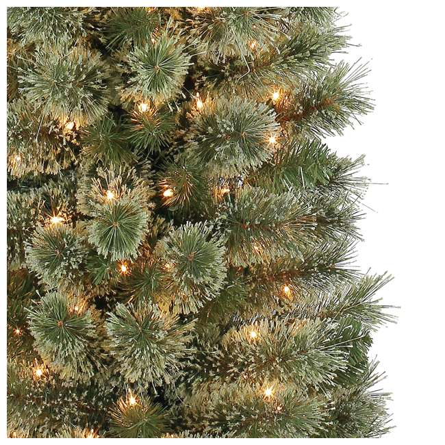 TV70M2638C01 Home Heritage Stanley  7-Foot Pencil Pine Slim Pre-Lit Christmas Tree with Clear Lights and Stand 1