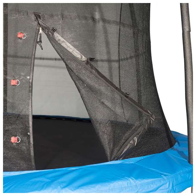 JK15VC2 JumpKing 15-Foot Trampoline with Safety Net Enclosure, Blue  2