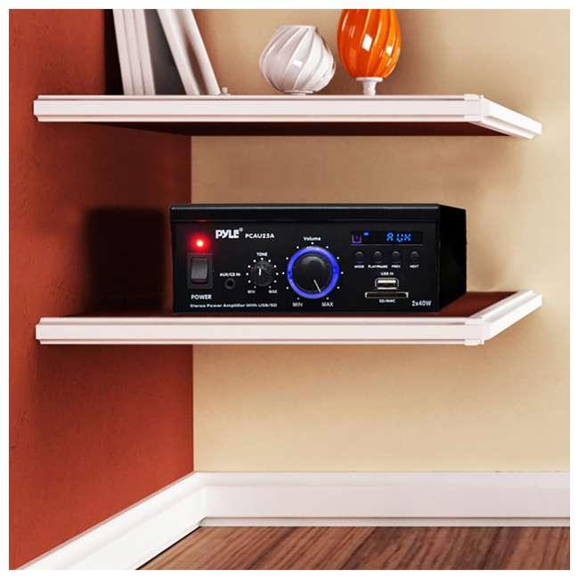 4 x PCAU25A Pyle Mini 2 x 40-Watt Stereo Power Amplifier (4 Pack) 5