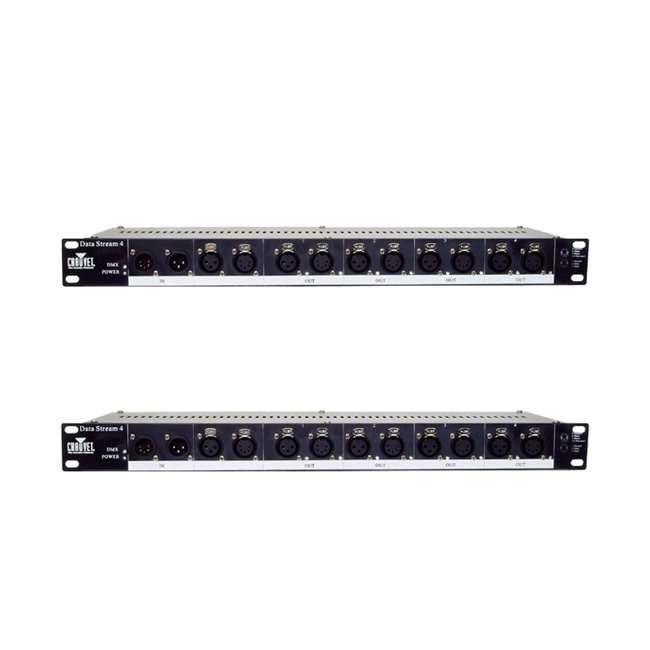 DATA-STREAM4 Chauvet DJ DATA STREAM 4 DMX 512 4 Outputs 3 & 5 Pin Universal Optical Splitter (2 Pack)
